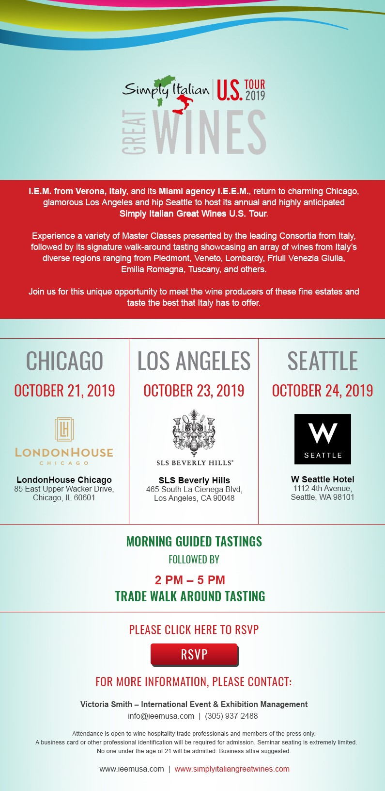 ALL CITIES Simply Italian Great Wines US Tour 2019