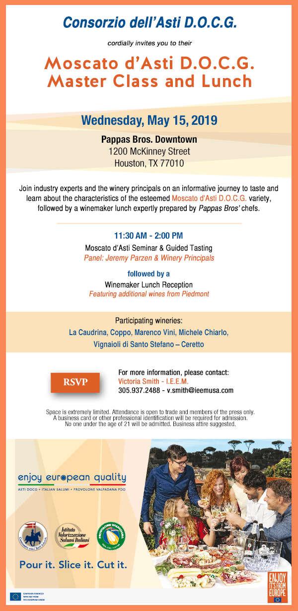 Invitation Moscato Houston 123
