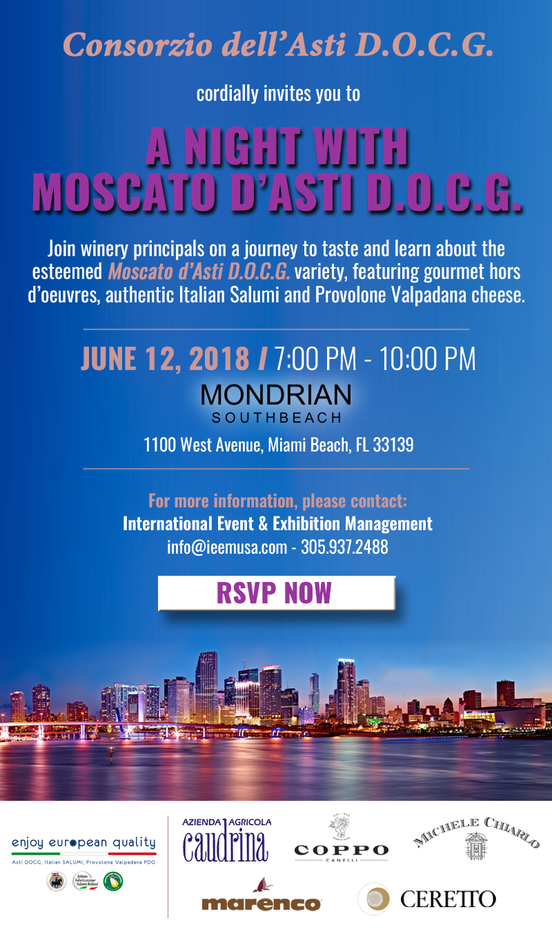 Moscato Invitation Miami Evening